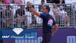 Renaud Lavillenie Jumps 5.86 Wearing The French Football Kit - IAAF Diamond League London 2018