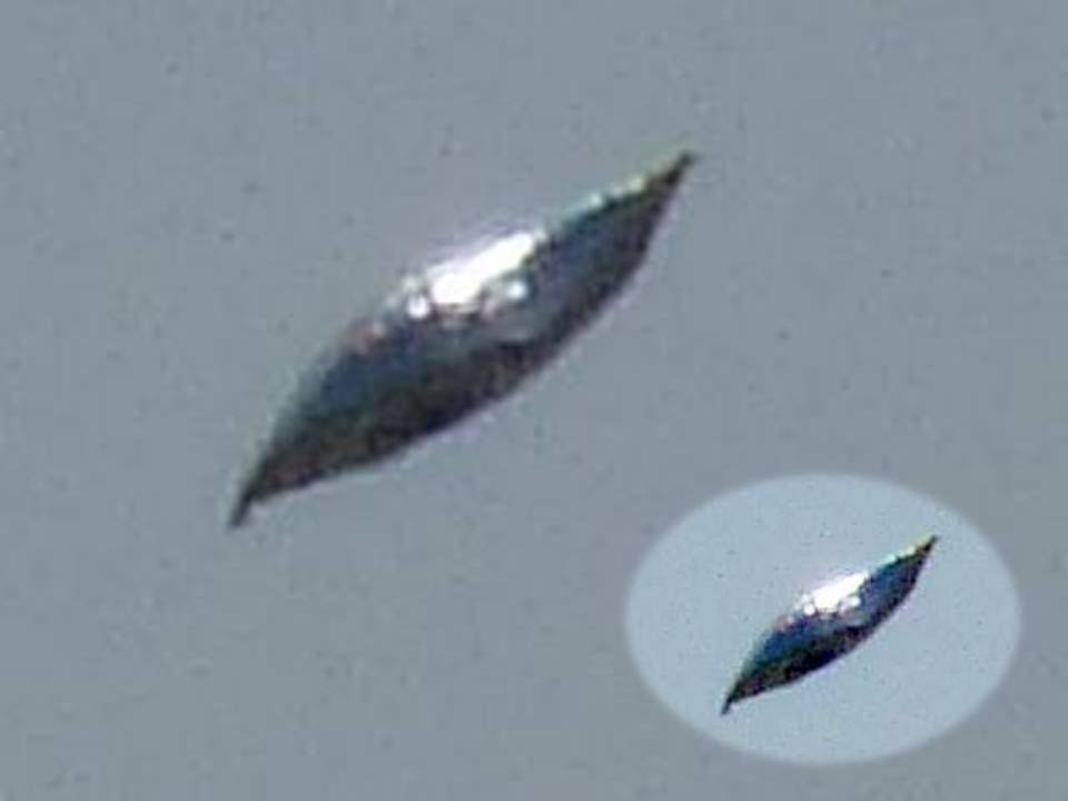 Silver Disc Shaped UFO Spotted Above USA, UFO Sighting News