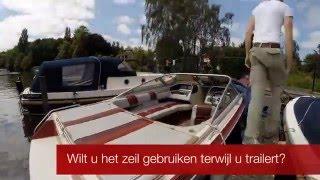 Bootzeil Historie 2015: Afdekzeil voor speedboot geheel op maat gemaakt