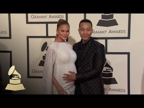 John Legend and Chrissy Teigen | Fashion Cam | 58th GRAMMYs