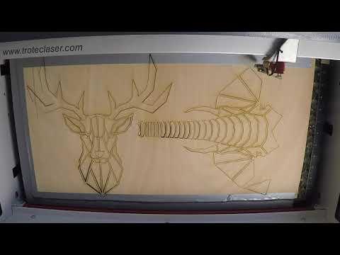 Elefánt dekoráció készítése - lézervágás