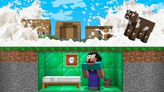 HOW NOOB SURVIVE FROM MILK TSUNAMI APOCALYPSE? Minecraft Noob vs Pro Animation
