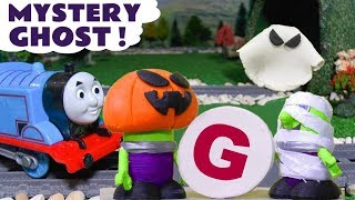 Thomas The Tank Engine Mystery Halloween Tunnel Ghost - Learn letters with Funny Funlings TT4U