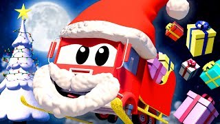 Christmas video for kids - TRUCKS AND CARS CARTOONS FOR CHILDREN - Car City Christmas Compilation