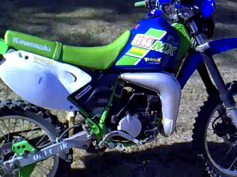 Kawasaki KmX 125 with Kawasaki KDX 41mm front fork Video