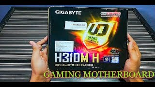 UNBOXING GIGABYTE Intel H310M-H HDMI & VGA Port Ultra Durable  Gaming motherboard [Amazon.in]