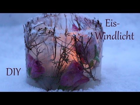 DIY | Eis- Windlicht mit Rosen | Naturmaterialien |  Just Deko
