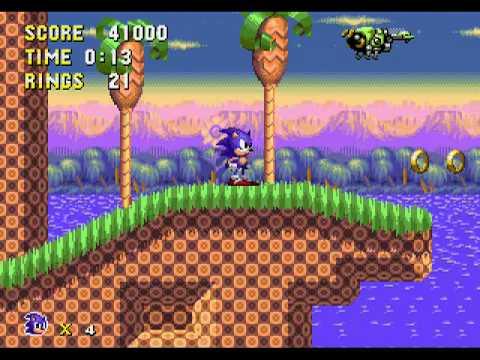 Sonic Pixel Perfect (Sega Genesis Hack) Gameplay