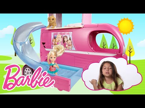 An Adventure with the Barbie Camper | Barbie