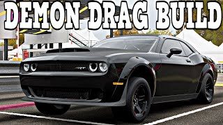 FORZA HORIZON 4 || Dodge Demon Drag Build (Build + Tune) W/Commentary