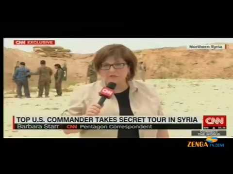 Today News - TOP U.S. Commander Takes Secret Tour In Syria
