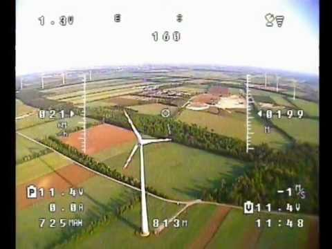Maiden Flight Falcon EPO Flying Wing. FPV RC Plane Onboard Camera KX-171 Pro G2 Crash Wind Turbines