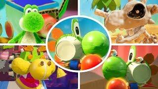 Yoshi's Crafted World - All Craft Vehicles Gameplay