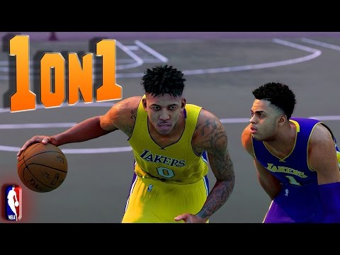 """Nick Young """"SWAGGY P"""" vs D'Angelo Russell - NBA 2K16 1on1"""
