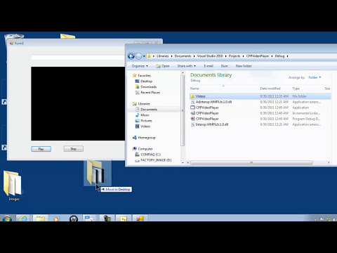 Visual C++ 2010 Help Video #1 Playing Videos With Windows Media Player