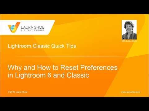 Resolving Buggy Behavior in Lightroom: How to Reset Preferences