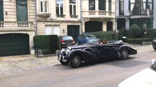 Bugatti Type 57 Cabriolet on the streets of Brussels