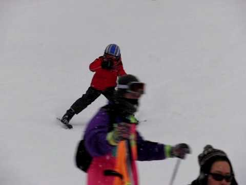 Gさん、息子R、妻Sのスキー(高速撮影)@万座温泉スキー場