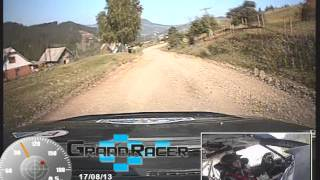 Rally Alexandrov 2013 Mitsubishi Lancer Evo 9 crash onboard