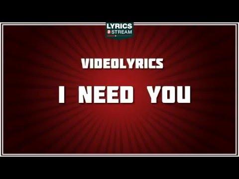I Need You - Marc Anthony tribute - Lyrics thumbnail