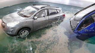 dirty cars come out of the water video for kids