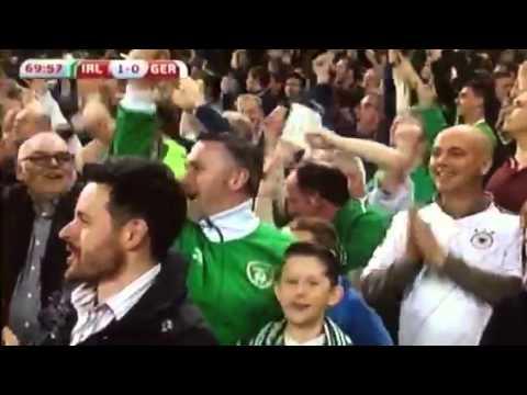 Shane long scores the winner for Ireland against Germany Eu