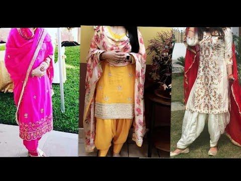 Latest partywear punjabi salwar suit designs