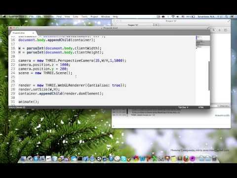 WebGL Three.js - Sudden Motion Sensor