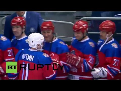 Russia: Putin hits the ice in Sochi to play Night Hockey League match