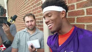 TigerNet.com - Kelly Bryant after practice - August 3, 2017
