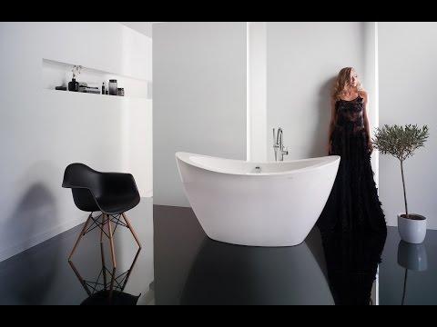 Vasca da bagno centro stanza in acrilico purescape™ 148   aquatica