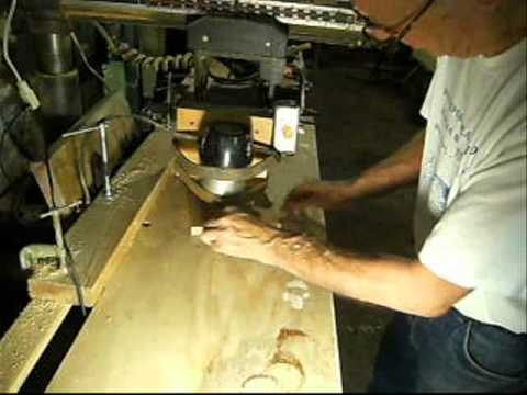 CONVERTING AN OLD RADIAL-ARM SAW TO AN OVERHEAD PIN ROUTER..wmv