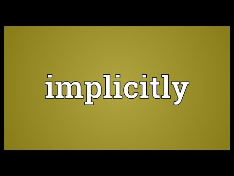 Header of implicitly