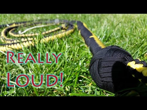 How To Make An Extremely Loud Paracord Bullwhip - Part 2