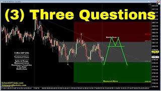 3 Important Questions   Crude Oil, Emini, Nasdaq, Gold & Euro