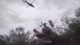 Woman Airlifted From Her Flooded Home Following Hurricane Florence