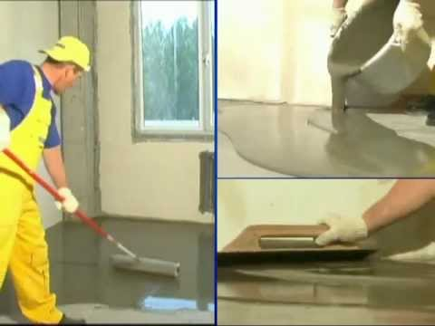 Видеоуроки по ремонту квартир.  Полимин.  Смесь для наливного пола Полимин