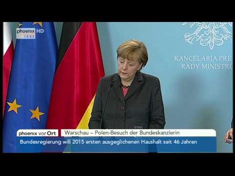 Polen-Besuch - PK mit Merkel & Tusk am 12.03.2014