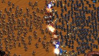 800 MARINES vs 400 ZEALOTS - StarCraft Remastered