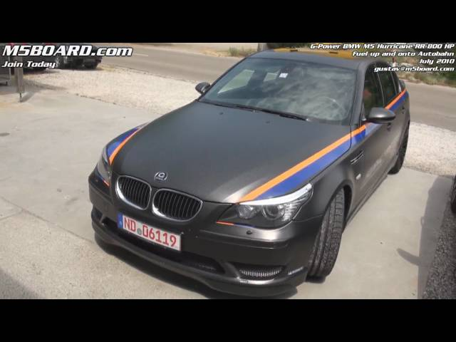 G-Power Hurricane RR BMW M5 800 HP: fueling up and onto ...
