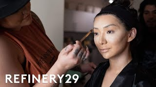 Get Ready With Nikita Dragun For A Fashion Show | Get Glam VR | Refinery29