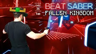 Playing Fallen Kingdom In Beat Saber