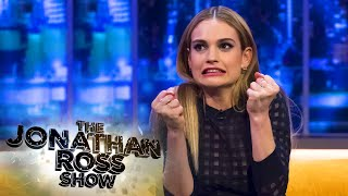 Lily James Stomps An Actors Head! - The Jonathan Ross Show