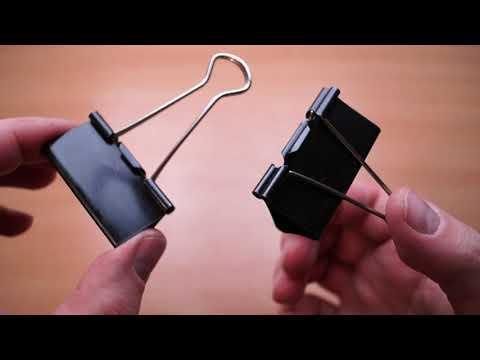 Подставка для смартфона из канцелярских зажимов
