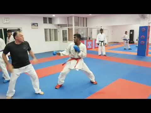 Karate Techniques Distance Kumite Training
