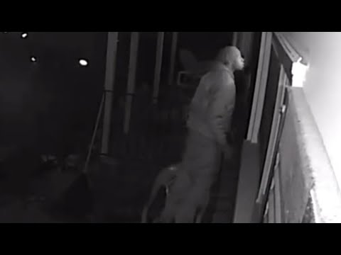 Homeowners Catch Suspected Peeping Tom in the Act