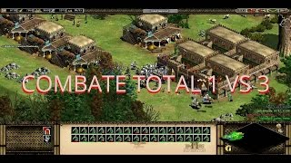 AGE OF EMPIRES 2 COMBATE TOTAL  3 vs 1