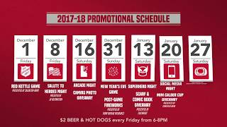 Griffins Promotions and Giveaways for 2017-18