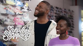 """Us"" Stars Lupita Nyong'o And Winston Duke Go Sneaker Shopping With Complex"