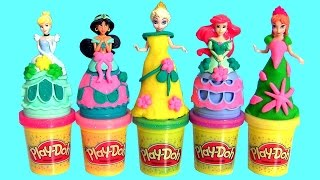 Play Doh Sparkle Jasmine Alladin - Play Dough Brillante Princesa Jasmín Magic Clip Anna Elsa Ariel